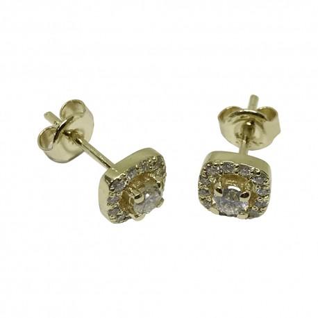 Gold Diamond Earrings 0 47 Ct T W Model Number 1374