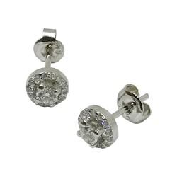 עגילים מזהב משובצים 30 יהלומים במשקל 0.47 קרט דגם : 1375