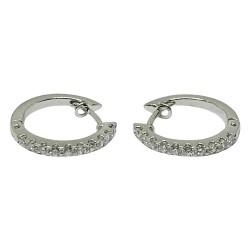 עגילים מזהב משובצים 20 יהלומים במשקל 0.42 קרט דגם : 1376