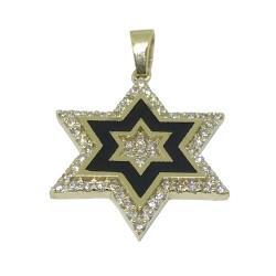 תליון זהב משובץ 55 יהלומים במשקל 0.37 קרט דגם : 1316