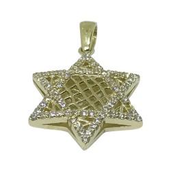 תליון זהב משובץ 66 יהלומים במשקל 0.44 קרט דגם : 1319