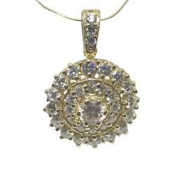 תליון זהב משובץ 32 יהלומים במשקל 1.1 קרט דגם : 1334