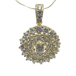 Gold Diamond Pendant 1.1 CT. T.W. Model Number : 1334