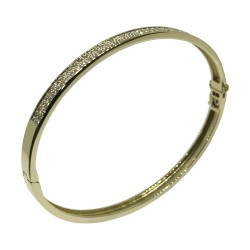 צמיד זהב משובץ 80 יהלומים במשקל 0.95 קרט דגם : 1493