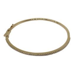 צמיד זהב משובץ 55 יהלומים במשקל 0.76 קרט דגם : 1578