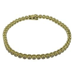צמיד זהב משובץ 51 יהלומים במשקל 1.58 קרט דגם : 1620
