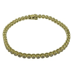 Gold Diamond Bracelet 1.58 CT. T.W. Model Number : 1620
