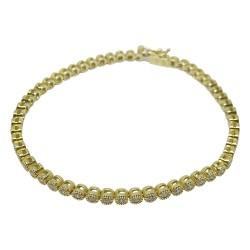 צמיד זהב משובץ 56 יהלומים במשקל 1.34 קרט דגם : 1621