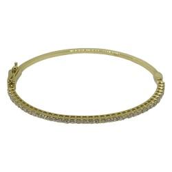 צמיד זהב משובץ 38 יהלומים במשקל 1.43 קרט דגם : 1665