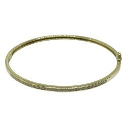 צמיד זהב משובץ 37 יהלומים במשקל 0.54 קרט דגם : 1666