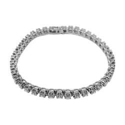 Gold Diamond Bracelet 3.8 CT. T.W. Model Number : 1689