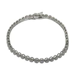 Gold Diamond Bracelet 1.29 CT. T.W. Model Number : 1126