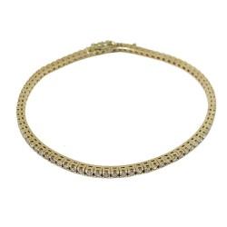 צמיד זהב משובץ 85 יהלומים במשקל 2 קרט דגם : 584