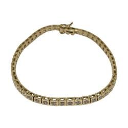 צמיד זהב משובץ 49 יהלומים במשקל 1.82 קרט דגם : 581