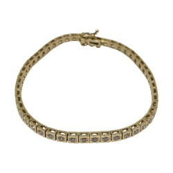 Gold Diamond Bracelet 1.82 CT. T.W. Model Number : 581