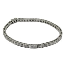 Gold Diamond Bracelet 1.1 CT. T.W. Model Number : 1611