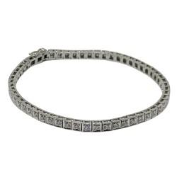 Gold Diamond Bracelet 1.1 CT. T.W. Model Number : 1611