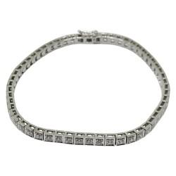 צמיד זהב משובץ 56 יהלומים במשקל 1.94 קרט דגם : 1612