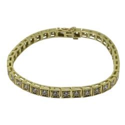 צמיד זהב משובץ 37 יהלומים במשקל 4.42 קרט דגם : 1613