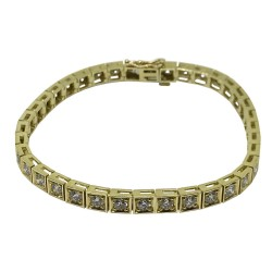 Gold Diamond Bracelet 4.42 CT. T.W. Model Number : 1613