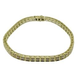 צמיד זהב משובץ 49 יהלומים במשקל 1.52 קרט דגם : 1614