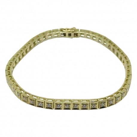 Gold Diamond Bracelet 1.52 CT. T.W. Model Number : 1614