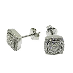 Gold Diamond EarRings 0.71 CT. T.W. Model Number : 1489