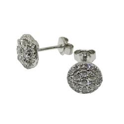 עגילים מזהב משובצים 54 יהלומים במשקל 0.79 קרט דגם : 1498