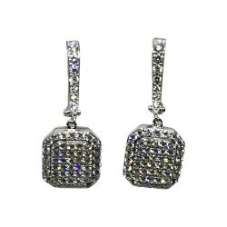 עגילים מזהב משובצים 138 יהלומים במשקל 1.67 קרט דגם : 1532