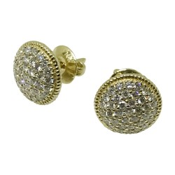 Gold Diamond EarRings 0.98 CT. T.W. Model Number : 1062