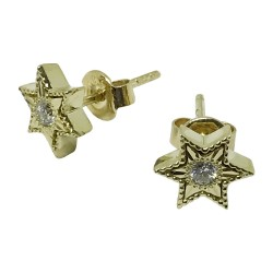 Gold Diamond EarRings 0.14 CT. T.W. Model Number : 1064