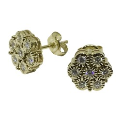 Gold Diamond EarRings 0.37 CT. T.W. Model Number : 1152
