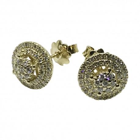 Gold Diamond EarRings 0.63 CT. T.W. Model Number : 1155
