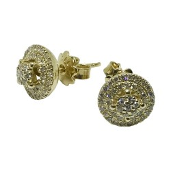 Gold Diamond EarRings 0.49 CT. T.W. Model Number : 1070