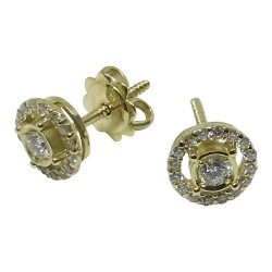 Gold Diamond EarRings 0.42 CT. T.W. Model Number : 1069