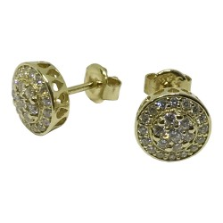 Gold Diamond EarRings 0.58 CT. T.W. Model Number : 1072