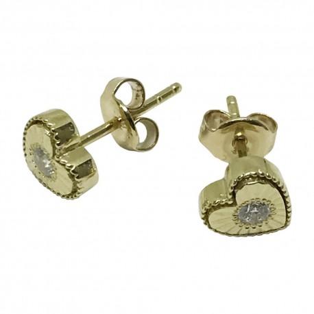 Gold Diamond EarRings 0.14 CT. T.W. Model Number : 1065