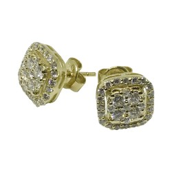 Gold Diamond EarRings 0.85 CT. T.W. Model Number : 1141