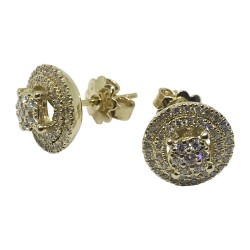 Gold Diamond EarRings 0.59 CT. T.W. Model Number : 622