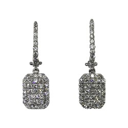 Gold Diamond EarRings 0.92 CT. T.W. Model Number : 1580