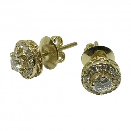 Gold Diamond EarRings 0.21 CT. T.W. Model Number : 1073