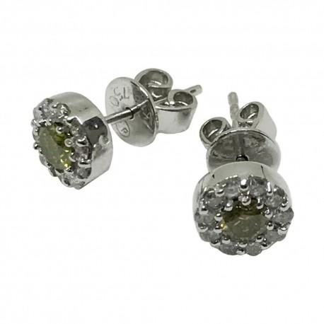 Gold Diamond EarRings 0.16 CT. T.W. Model Number : 1081