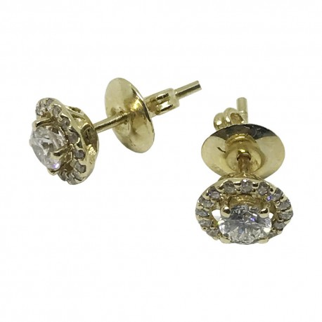 Gold Diamond EarRings 0.21 CT. T.W. Model Number : 1078