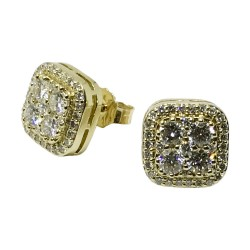 Gold Diamond EarRings 0.45 CT. T.W. Model Number : 1060