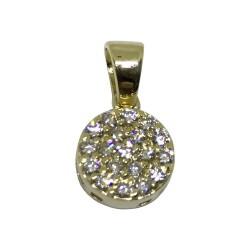 תליון זהב משובץ 19 יהלומים במשקל 0.21 קרט דגם : 1505