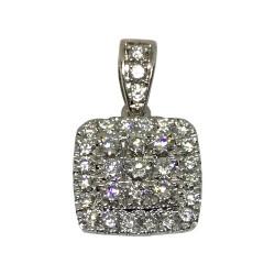 תליון זהב משובץ 32 יהלומים במשקל 0.52 קרט דגם : 1518