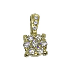 Gold Diamond Pendant 0.22 CT. T.W. Model Number : 4457