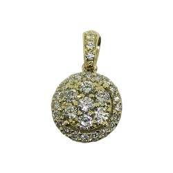 Gold Diamond Pendant 0.41 CT. T.W. Model Number : 1522