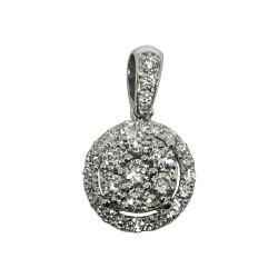 תליון זהב משובץ 30 יהלומים במשקל 0.34 קרט דגם : 1523