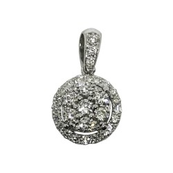 Gold Diamond Pendant 0.34 CT. T.W. Model Number : 1523